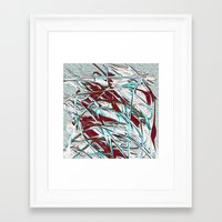 friday night lights Framed Art Prints featuring Friday Night by MehrFarbeimLeben