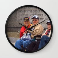 heroes Wall Clocks featuring Heroes by Anthony M. Davis