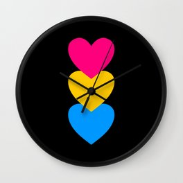 Pansexuality in Shapes Wall Clock
