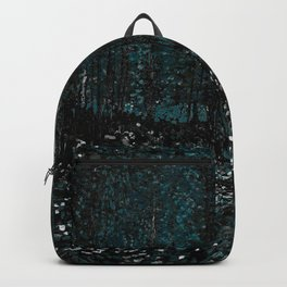 Vincent Van Gogh Trees & Underwood Dark Teal Backpack