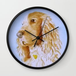 Best Bud Cocker Spaniel Wall Clock
