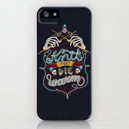 Knit Fast Die Warm iPhone Case