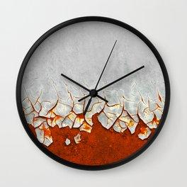 Rust and Grey Wall Clock