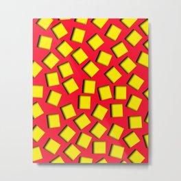 yellow square holes Metal Print