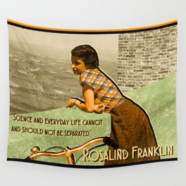 Science Quote Rosalind Franklin Wall Tapestry