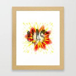 Comic Blast Framed Art Print