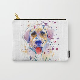 White labrador puppy portrait Carry-All Pouch