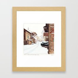 Since We've No Place To Go Framed Art Print