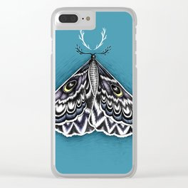 Moth Horns Clear iPhone Case