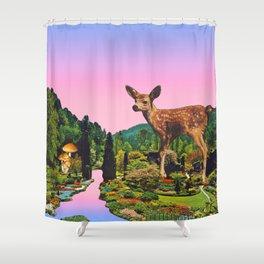 Giant deer Shower Curtain