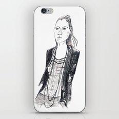 Fashion waif iPhone & iPod Skin