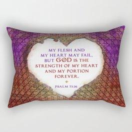 The Strength of My Heart Rectangular Pillow
