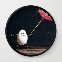 Not Egg-actly Nice Weather Wall Clock