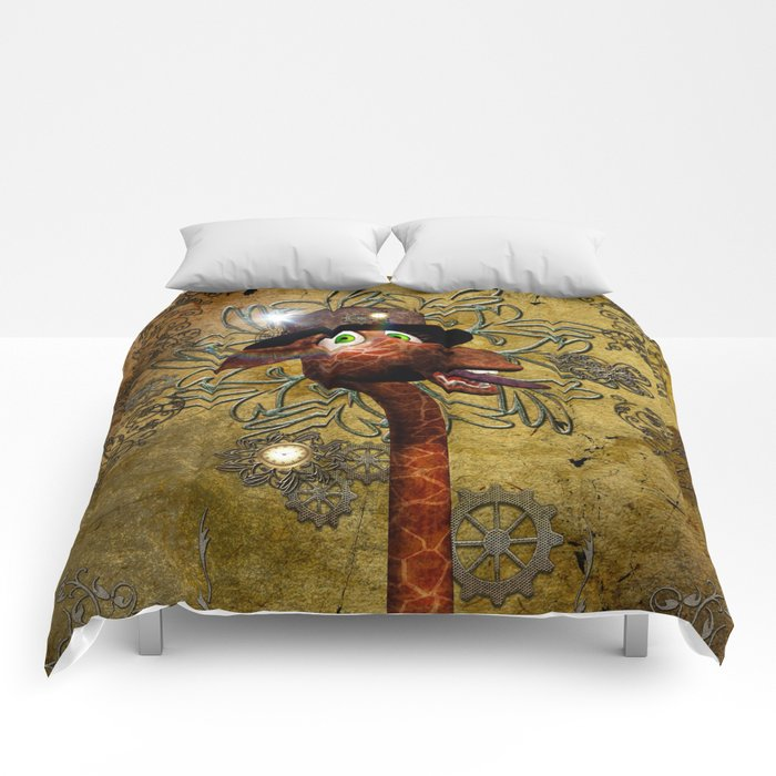Steampunk, giraffe Comforters