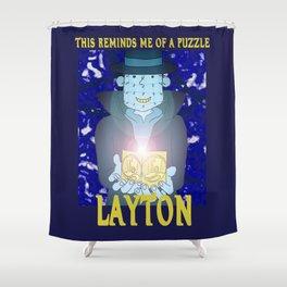 Layton Raiser Shower Curtain