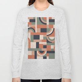 Earth Tones Blocks #society6 #pattern Long Sleeve T-shirt