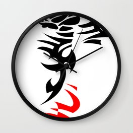 tattoo rose with torns, ed shereen tattoo Wall Clock