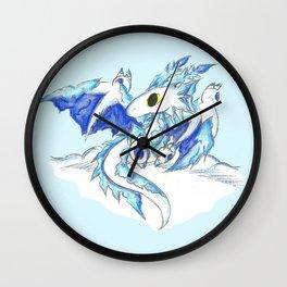 Baby Ice Wyvern Wall Clock