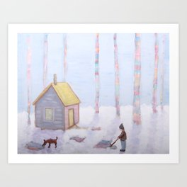 Melting Snow Reveals the Secrets We Buried in the Fall Art Print