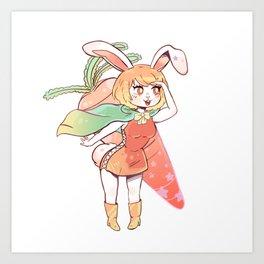 Carrot Sticker Art Print