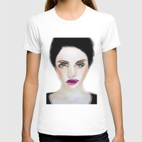 glitch T-shirts featuring Glitch by Hiba Khan Art