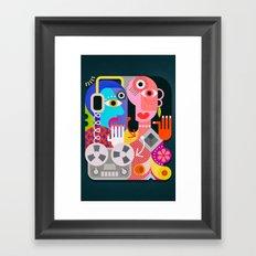 Cubism Deejay - Music Framed Art Print