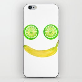 Watercolor Fruit Smiley Face iPhone Skin