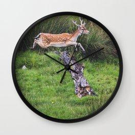 The jumping Deer Wall Clock