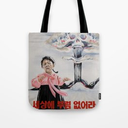 Nuclear Warfare in North Korea Tote Bag