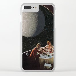 Dine Me To The Moon Clear iPhone Case