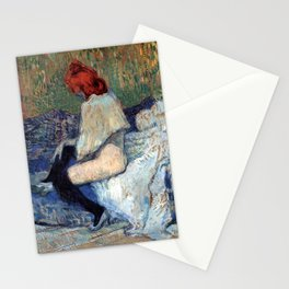 "Henri de Toulouse-Lautrec ""Red-Haired Woman on a Sofa"" Stationery Cards"