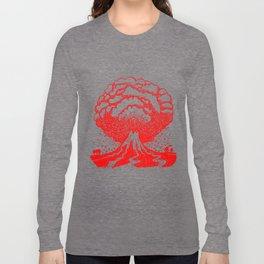 Volcano - Red Long Sleeve T-shirt