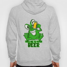 Take Me To Your Beer T-Shirt Funny Space Green Alien Tee Hoody