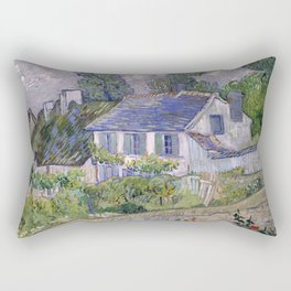 Houses in Auvers Rectangular Pillow