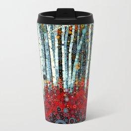 :: Begonia Birch :: Metal Travel Mug