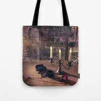 bdsm Tote Bags featuring BDSM Rendezvous by Simone Gatterwe