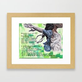 The Prayer of Saint Francis of Assisi Framed Art Print