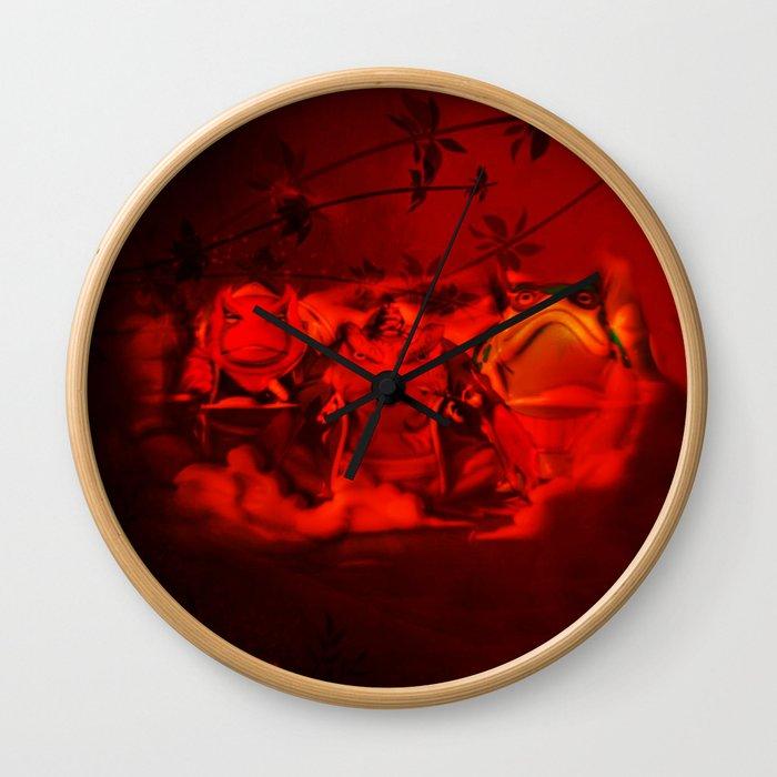 hermit frog Wall Clock