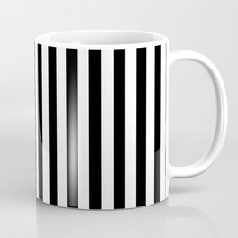 Classic Black and White Vertical Stripes Coffee Mug
