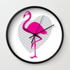 love flamingos Wall Clock