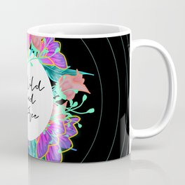 Wild and Free Black Floral Boho Coffee Mug