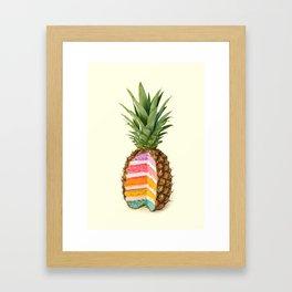 PINEAPPLE CAKE Framed Art Print