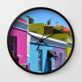 Bo-Kaap, South Africa #society6 #decor #buyart Wall Clock