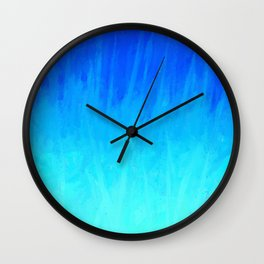 Icy Blue Blast Wall Clock