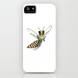 Book Reading Bee iPhone Case