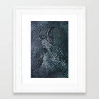devil Framed Art Prints featuring Devil by Maciej Kamuda