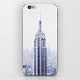 New York City - Manhattan Cityscape - Empire State Building Photograph iPhone Skin