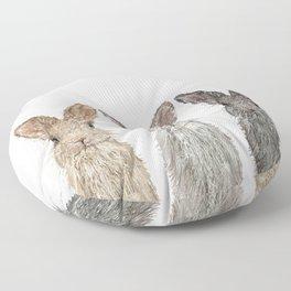 Triple Bunnies Floor Pillow
