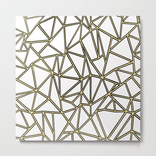 Ab Blocks White Gold Metal Print