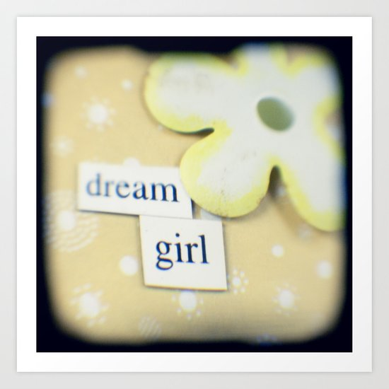 Dream girl Art Print